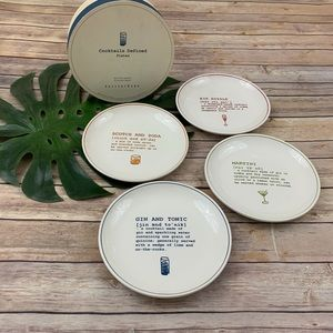 Pottery Barn 'cocktails defined' cocktail plates